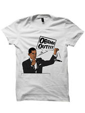 OBAMA OUT SHIRT FUNNY SHIRTS BARACK OBAMA LADIES TOPS MENS TEES PLUS SIZES GIFTS