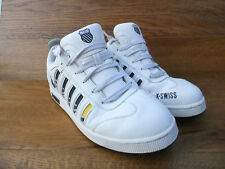 K-Swiss  White Leather Trainers Tennis Shoes Size UK 8 EUR 41