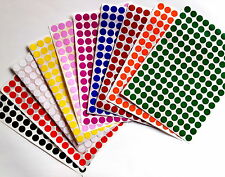 """Color Coded Stickers 3/8"""" Labels Round Small Dots 0.375 inch circle 10mm"""