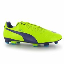Puma evoPower 3 FG Firm Ground Football Boots Mens Yellow/Purple Soccer Cleats