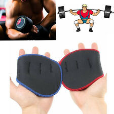 Grip Weight Lifting Pads Gloves Fingerless Support Gym Workout Fitness Training.