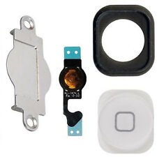 Home Menu Button Key Cap Gas Kit + Flex Cable + Bracket for Apple iPhone 5 New