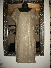 NEXT CLASSY SIZE 8 GOLD FOILED LACE TUNIC / SHIFT DRESS BNWT RRP £50!