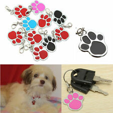 Fashion Puppy Pet Dog Cat Paw Foot Print ID Name Tags Collar Personalized Tag