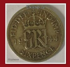 VINTAGE GEORGE VI LUCKY SILVER SIXPENCE - CHOICE OF DATE 1938-1947-free UK post!