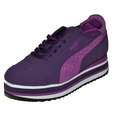 PUMA Roma Slim Stacked Platform Grape Womens Shoes Trainers Sneaker