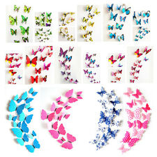 PVC 3D Butterfly Wall Colorful DIY Wall Stickers Home Decor Room Decorations Art