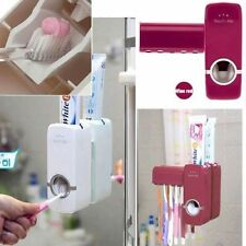 Auto Automatic Toothpaste Dispenser+ 5 Toothbrush Holder Set Wall Mount Stand KY