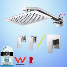 """Bathroom 8"""" Shower Head Rose with Adjustable Wall Shower Arm & Mixer/Tap"""
