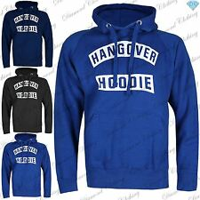 Mens Hooded Sweatshirt Hangover Hoodie Pullover Fleece Knitted Hoody Jumper Top
