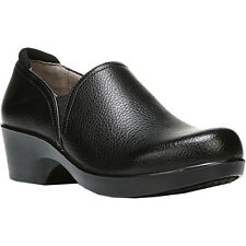 Naturalizer FREEDA Womens Black Tumbled Leather Slip On Comfort Work Shoes