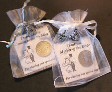 SIXPENCE WEDDING FAVOURS TOP TABLE WITH GIFT BAG AND CHARMS