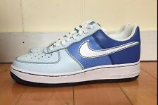 NIKE WOMENS AIR FORCE 1 LOW BLUE WHITE WMNS SZ 9-12  315115-412