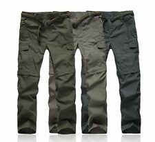 CARGO MENS TROUSERS Detachable TRAVEL OUTDOOR HIKING QUICK DRY BREATHABLE PANTS