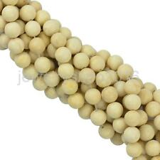 Matte Frost Coral Cream Round Loose Beads Strand 15 Inch DIY Making