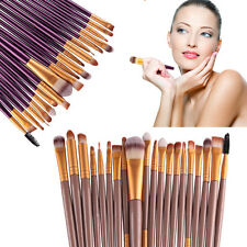 New 20Pcs Pro Powder Blush Foundation Eyeshadow Eyeliner Lip Cosmetic Brush Kit