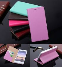 Real Cow Leather Skin Flip Stand Case Phone Cover For Huawei Ascend P7