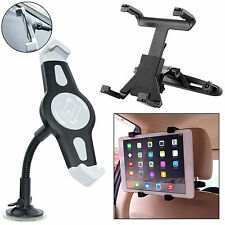 "7 - 10"" inches Car Headrest and Windscreen Glass Mount Holder For iPad 4 3 Air 2"