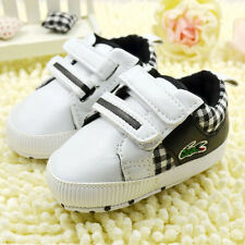Baby boys black Crib Shoes Soft Soles casual shoes Size Newborn to18 Months