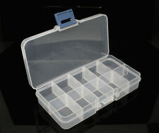 1/2/5 Clear Beads Display Storage Case Box 132x72x23mm Free shipping NEW071