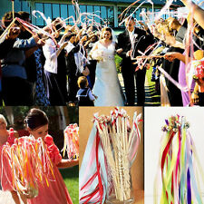 1XColorful Wedding Twirling Streamers Ribbon Stick With Bell Garland Party Decor