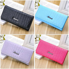 New Women Fashion PU Leather Wallet Button Clutch Purse Lady Long Handbag Bag