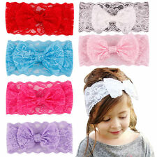 Kids Girl Baby Headband Toddler Lace Bow Flower Headwrap Hair Band Accessories