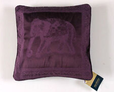 PURE OPULENCE ETHNIC INDIAN ELEPHANT PLUM FILLED SCATTER CUSHION 43 X 43 CMS