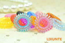 10PCS Telephone Line Elastic Rubber Hair Band Rope Tie Hair  Women Girl Baby Lxt