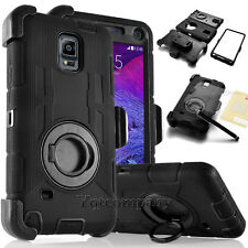 Shockproof Holster Case With Rotating Belt Clip For Samsung Apple iPhone Black