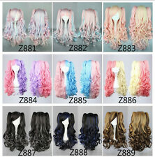 "2  Ponytail Wavy Curly Colorful 65CM/26""  hair Party Fashion Sexy Cosplay Wig"