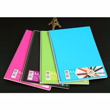 A5/A4 Spiral Coil Plastic Cover Notebook Diary Journal Student Sketch Book #B9