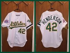 Dave Henderson 89 World Series Oakland A's Athletics Authentic Jersey Size 48!