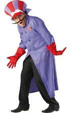 Adult 80s Cartoon Wacky Races Dick Dastardly Fancy Dress Party Costume Outfit