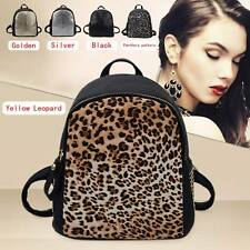 New Fashion PU Leather Leopard Backpack Alligator Bookbags School Shoulder Bag