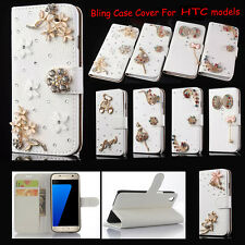 New Bling Diamond Rhinestone  Wallet Leather Stand Case Cover For HIC Phones