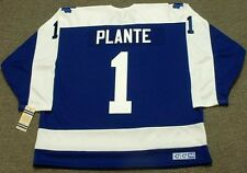 JACQUES PLANTE Toronto Maple Leafs 1972 CCM Vintage Throwback NHL Hockey Jersey