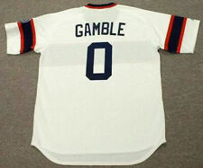 OSCAR GAMBLE Chicago White Sox 1985 Majestic Cooperstown Home Baseball Jersey