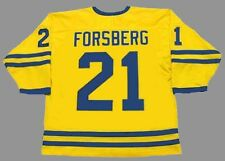 PETER FORSBERG Team Sweden Nike Olympic Throwback Hockey Jersey