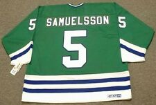 ULF SAMUELSSON Hartford Whalers 1989 CCM Vintage Throwback NHL Hockey Jersey