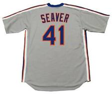TOM SEAVER New York Mets 1983 Majestic Cooperstown Away Baseball Jersey