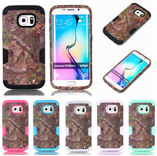 For Samsung Galaxy S7 S6 S7 Edge Plus Hybrid Rugged Rubber Tree Hard Case Cover