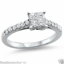 0.70ct Princess & Round cut Diamonds Engagement Ring in 950 Platinum