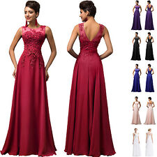 BEADED Long Bridesmaid Evening Party Formal Cocktail Dress Ball Gown Prom 2-24W