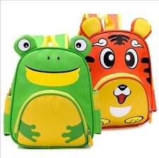 2016 Cartoon animal character canvas Kids School bag mochila infantil backpack