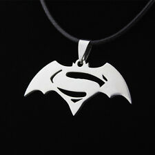 3pcs Super Hero Batman v Superman LOGO Necklace Fashion Stainless Stee Pendant