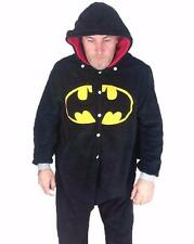 Batman Onesie Jumpsuit Pajama with Cape & Hood Outfit - Coral Fleece Adult Size