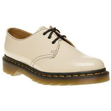 New Womens Dr. Martens White 1461 Leather Shoes Flats Lace Up