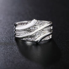 Fashion New Girl 925 Silver Crystal Jewelry Wedding Engagement Wedding Ring Hot