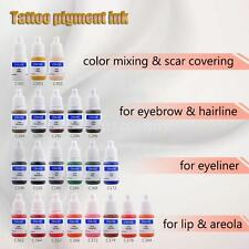 Tattoo Pigment Permanent Makeup Color Ink Eyebrow Eyeliner Lip Tool D7T4